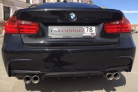 Глушитель с четырьмя насадками для BMW 3 F30